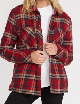volcom Volcom Plaid About You Red