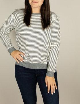 Mod-o-doc Mododoc Sweatshirt W/Back Pleat Ivory