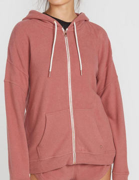 volcom Volcom Lil Zip Fleece Rose