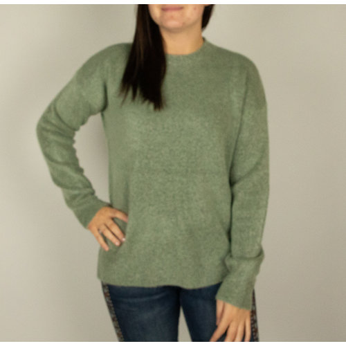 Mystree Mystree Loose Swtr Top Lt Green