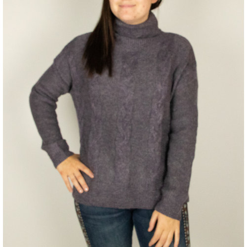 Mystree Mystree Turt Neck P/O Swtr Purple