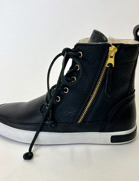 Blackstone Blackstone Blk Leather Lace Up Boot