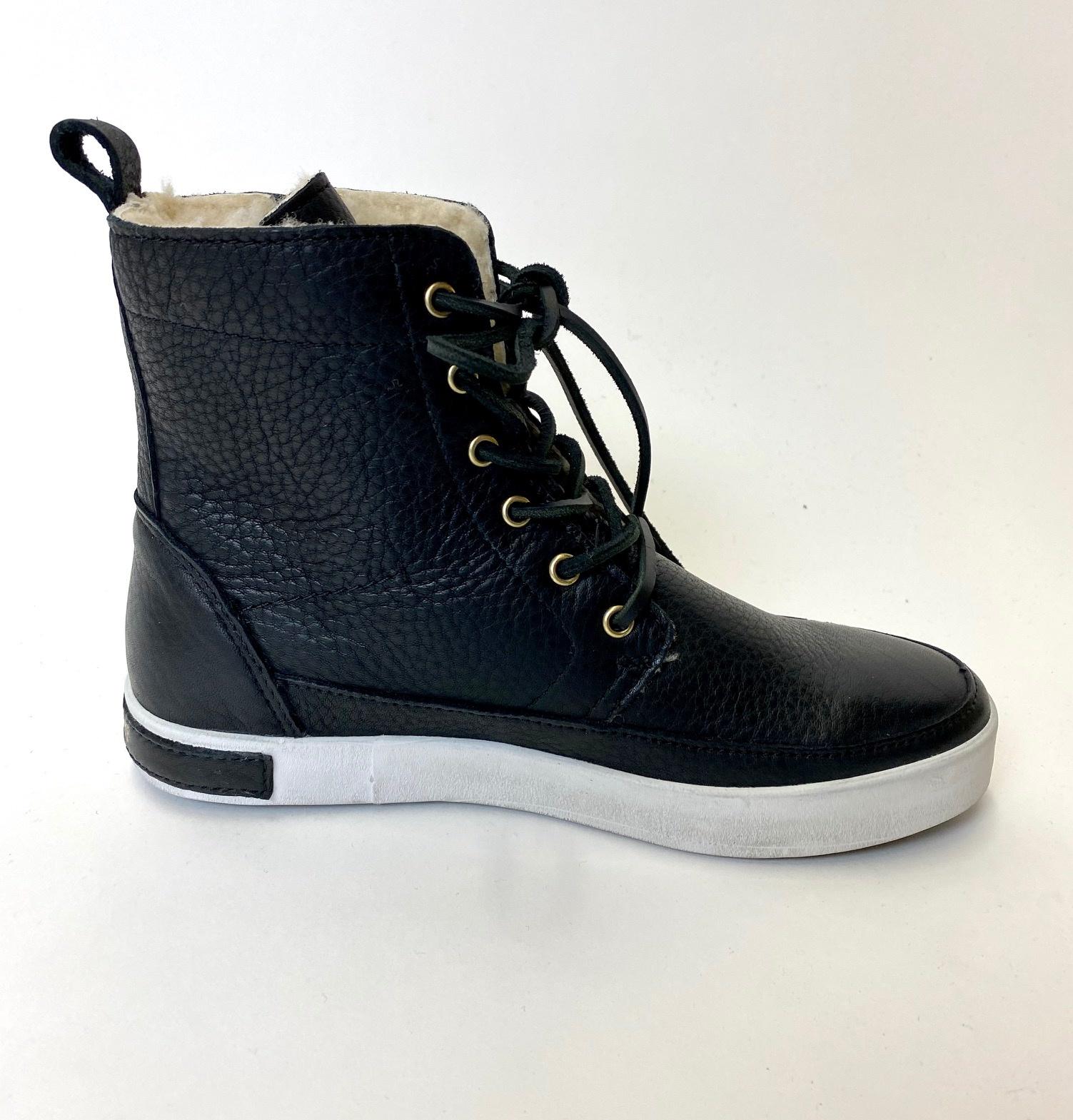 Blackstone Blackstone Blk Leather Lace Up Boot CW96Q45-001