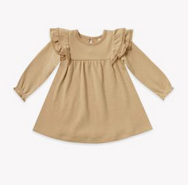 quincy mae Quincy Mae L/S Flutter Dress