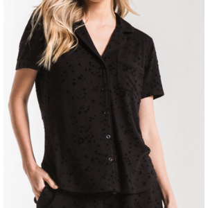 Z Supply Z Supply Stars PJ Shirt Blk
