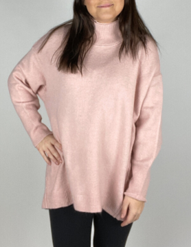 free people Free People Afterglow Mock Neck Pink