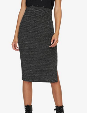 Sanctuary Sanctuary Met Pencil Skirt Silver/Blk Stripe