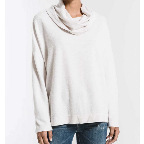 Z Supply Z Supply Fleece Scallop Cowl Cham Mist