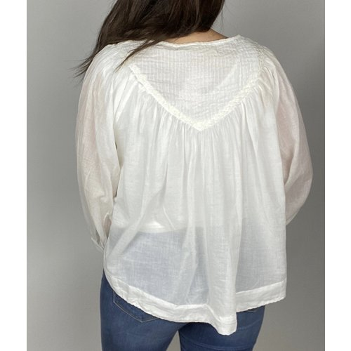 free people Free People Cool Meadow Top Wht OB1064031