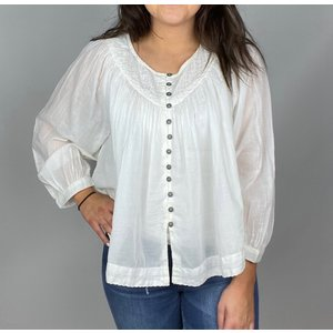 free people Free People Cool Meadow Top Wht