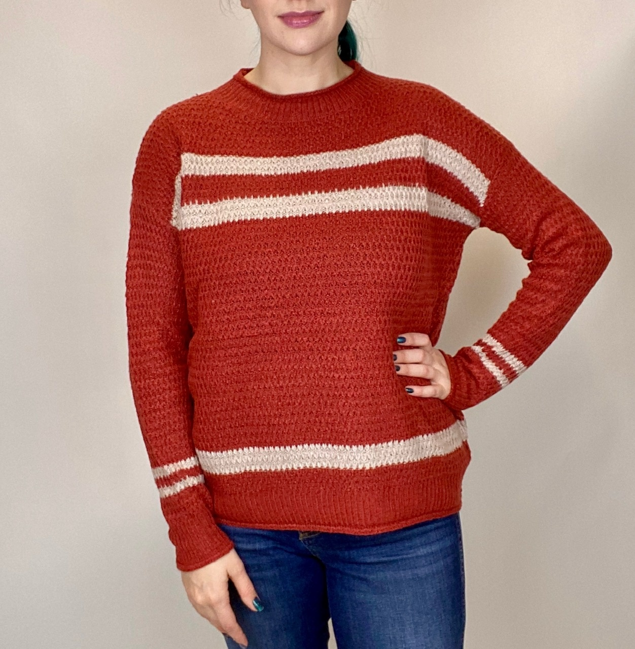 Staccato Staccato Stripe Accent Rust/Oatmeal 52281