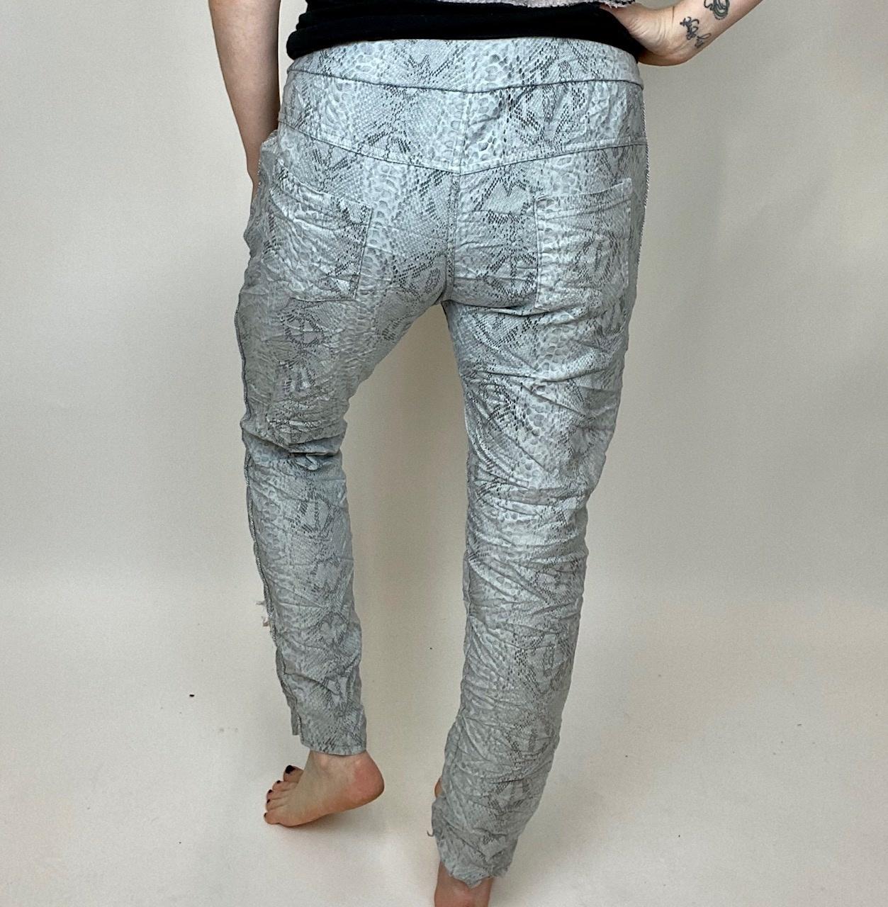 brand bazaar Brand Bazaar Snake Pant Beige/Gry