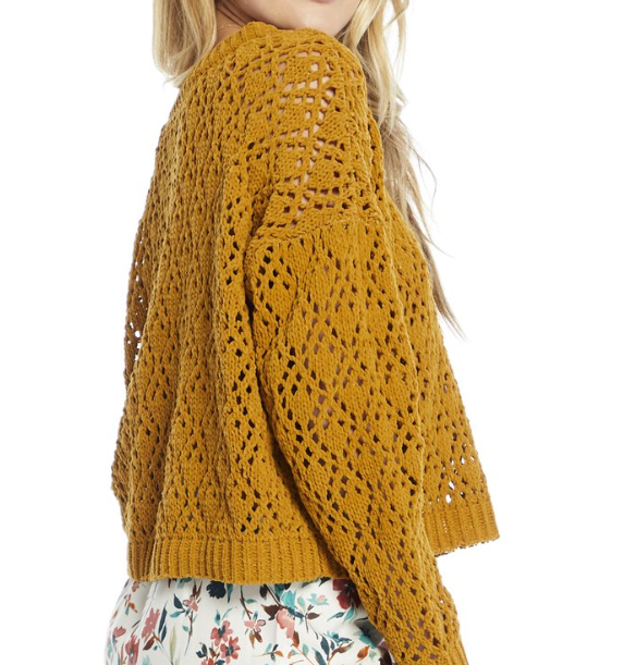 saltwater luxe Saltwater Luxe L/S Swtr Amber S1159-W118