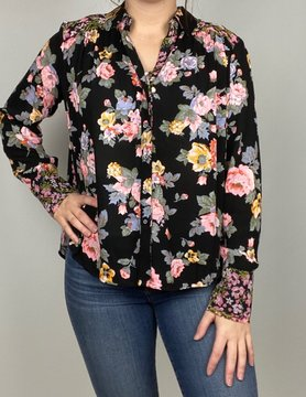 free people Free People Hold on to Me Printed Blk