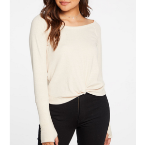 Chaser Chaser Linen Rib Cuff T GLO TAN