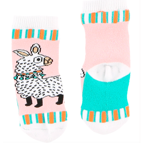 lazy one Lazy One Llama Infant Sock