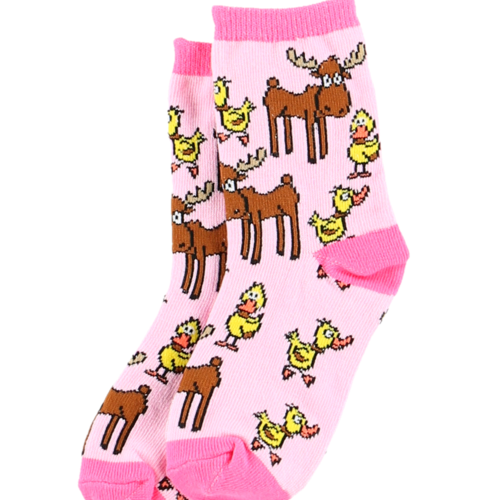 lazy one Lazy One Girl Duck Moose Kid Sock KSK369