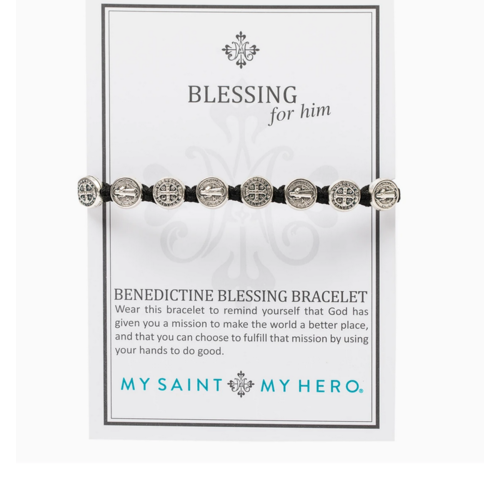 My Saint My Hero My Saint My Hero Blessing for Him Bracelet MMBS-101