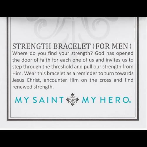 My Saint My Hero My Saint My Hero Men's Strength Bracelet Slate/Silv BR51-S-105