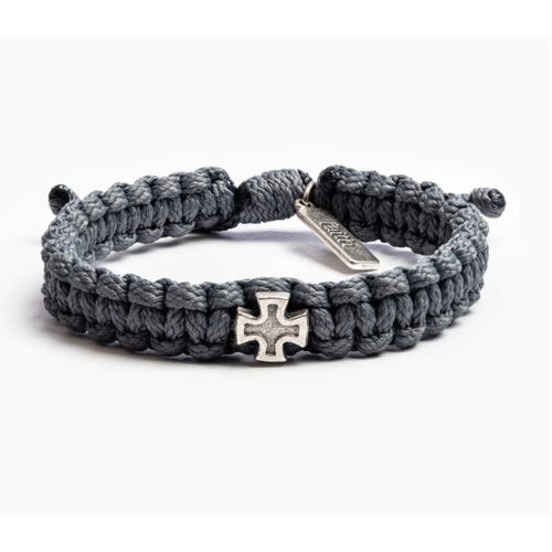 My Saint My Hero My Saint My Hero Men's Strength Bracelet Slate/Silver