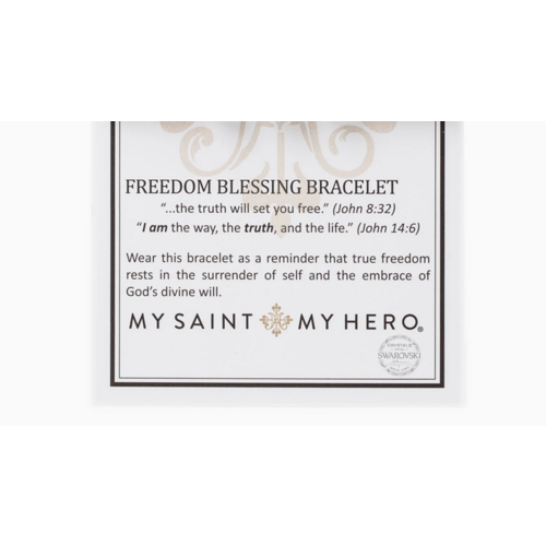 My Saint My Hero My Saint My Hero Freedom Blessing Bracelet Slate/Plat/Sil