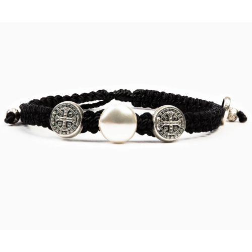 My Saint My Hero My Saint My Hero Freedom Blessing Bracelet Blk/Wht/Gld