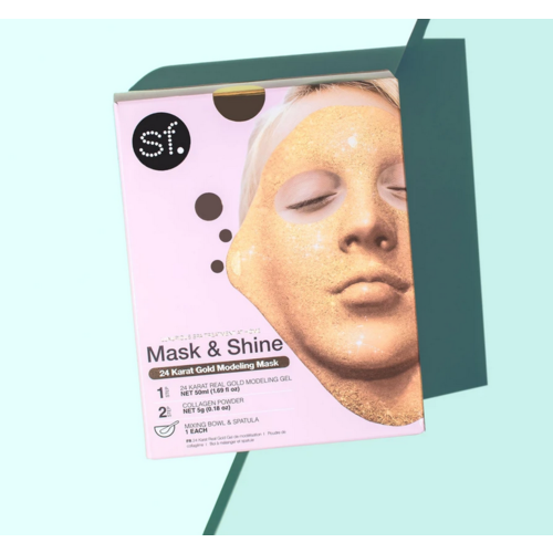 SF Glow 24 Karat Gold Modeling Gel Mask