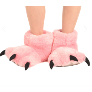 lazy one Lazy One Pnk Bear Paw Slipper