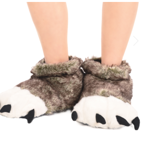 lazy one Lazy One Wolf Paw Slipper