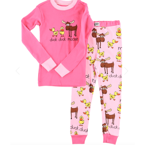 lazy one Lazy One Girl Duck Moose PJ Set