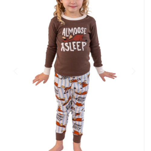 lazy one Lazy One Almoose Asleep PJ Set KID9012