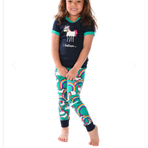 lazy one Lazy One Unicorn PJ Set KSS327