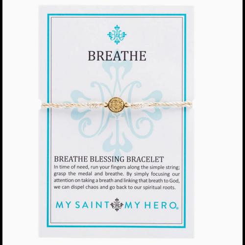 My Saint My Hero My Saint My Hero Breathe Blessing Bracelet Met Gld/Gld B-BRMT-114