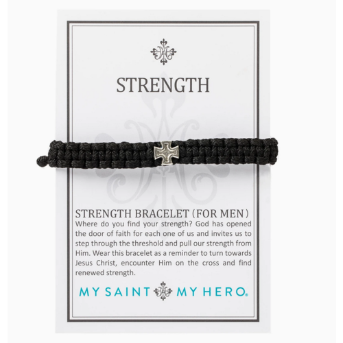 My Saint My Hero My Saint My Hero Men's Strength Bracelet Blk/Slv