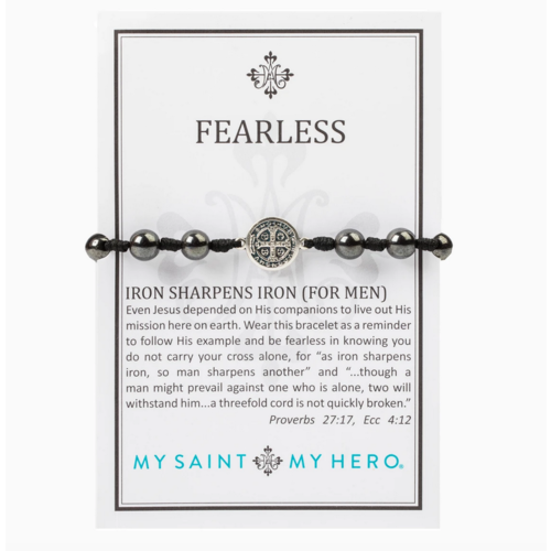 My Saint My Hero My Saint My Hero Men's Fearless Iron Sharpens Bracelet