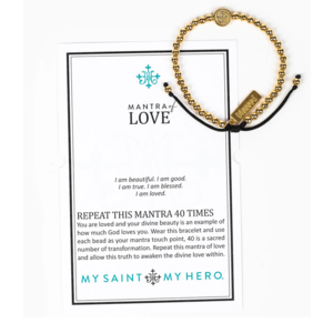 My Saint My Hero My Saint My Hero Mantra of Love Bracelet Gld/Blk