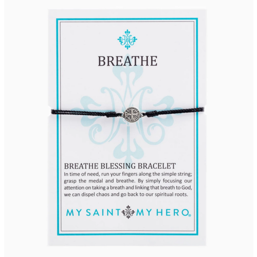 My Saint My Hero My Saint My Hero Breathe Blessing Bracelet Blk/Silv