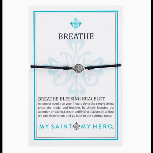 My Saint My Hero My Saint My Hero Breathe Blessing Bracelet Blk/Silv B-BR-101