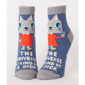 Blue Q Universe is a Dick Ankle Socks