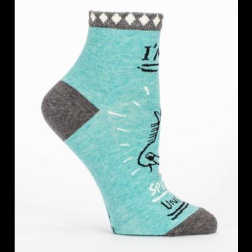 BLUE Q Blue Q Special Unicorn Ankle Socks SW625