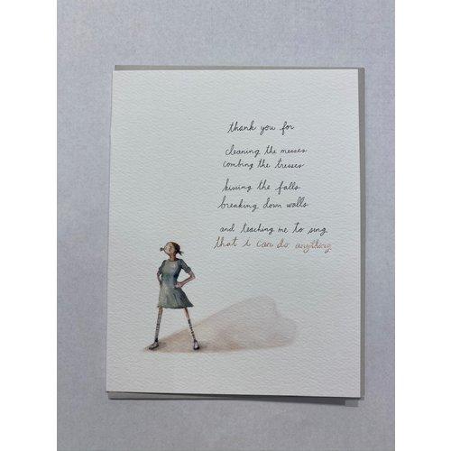 E Frances Supergirl Card