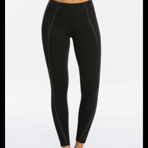 Spanx Spanx Exposed Mesh Legging Very Black ((Small)) 50082R