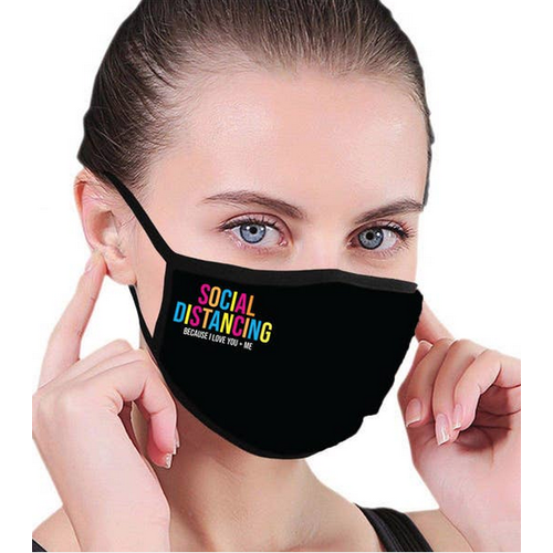 house of tens Social Distancing Colorful Facemask
