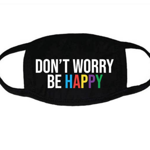 house of tens Dont Worry Be Happy Kids Face Mask