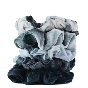 Kit-Sch Tie Dye Scrunchies Slate