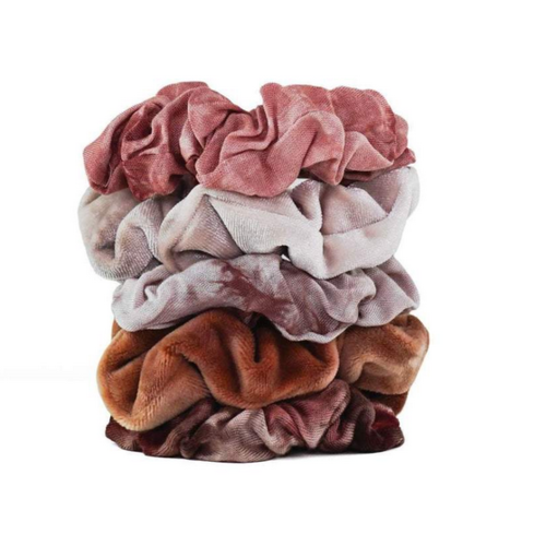 Kit-Sch Tie Dye Scrunchies Rust