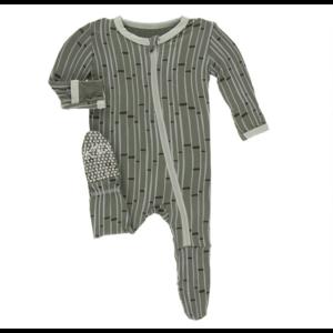 Kickee Pants Kickee Pants Print Footie w/Zipper
