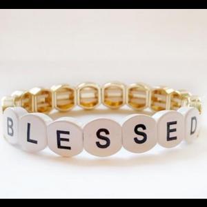 caryn lawn Caryn Lawn Tile Bracelet BLESSED GOLD