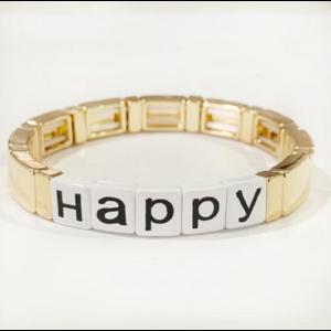 caryn lawn Caryn Lawn Tile Bracelet HAPPY