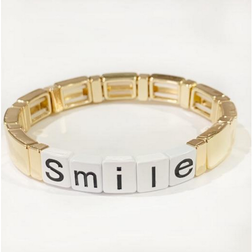 caryn lawn Caryn Lawn Tile Bracelet SMILE